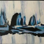 """Cold Snap, Acrylic, 48x24"""" SOLD"""