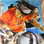 "Rhythm Maker, Acrylic, 24 ""x 36"", SOLD"